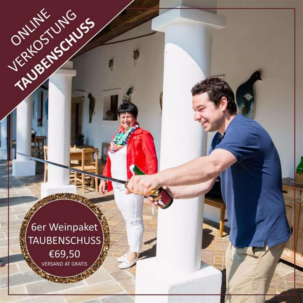 Online Weinprobe Taubenschuss